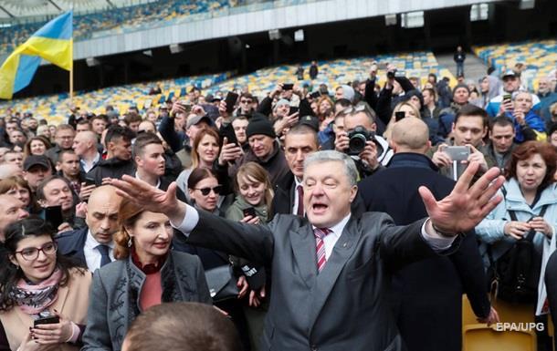 Дебаты на стадионе: Порошенко согласен на любую дату, кроме 19 апреля