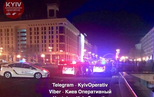 В центре Киева ранили полицейского и угнали авто