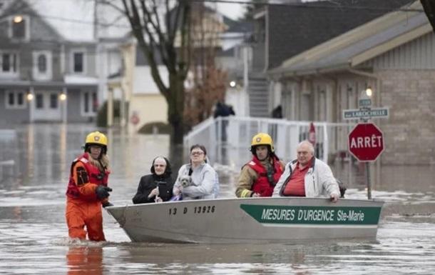 В Канаде паводок затопил более тысячи домов