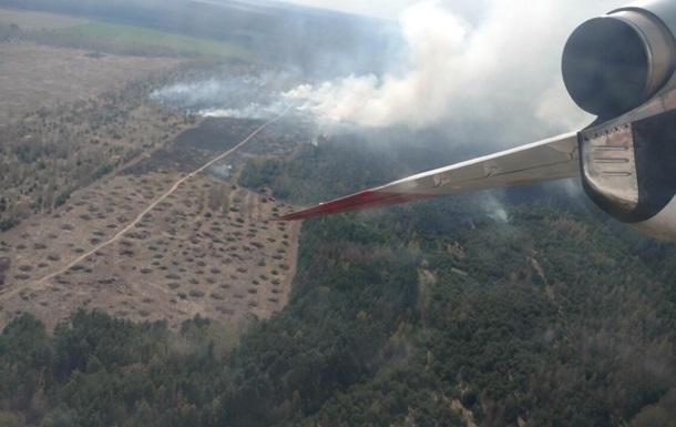 У Чернігівській області горить ліс
