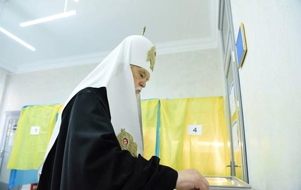 Патриарх Филарет поздравил Зеленского с победой на выборах