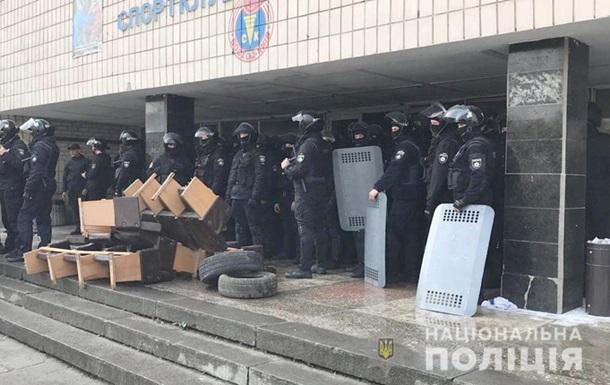 Захват спорткомплекса в Киеве: полиция задержала 62 человека