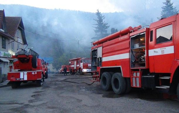 На Прикарпатті згоріло приміщення Держказначейства
