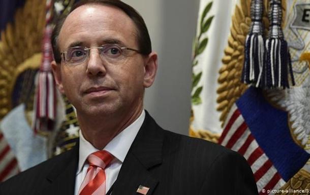 Заступник генпрокурора США Род Розенстайн подав у відставку