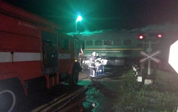 В Хмельницкой области загорелся локомотив поезда