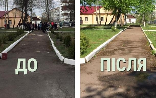 У Житомирській області з алеї героїв АТО викрали дерева