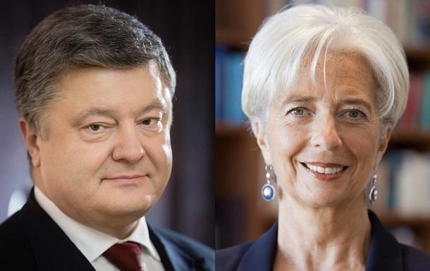 Порошенко обговорив ПриватБанк з главою МВФ