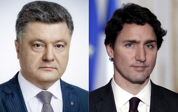 Порошенко і Трюдо обговорили ситуацію на Донбасі