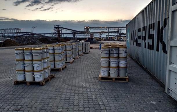 В порту под Одессой обнаружили кокаин в строительных материалах
