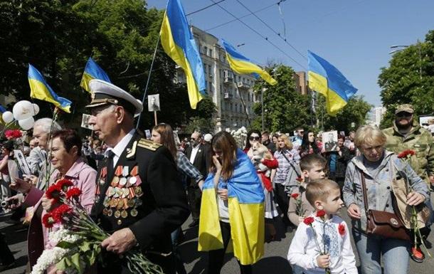 9 мая - это праздник или день памяти. Опрос в Киеве