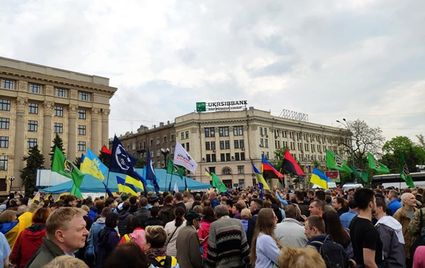У Харкові мітинг проти знесення намету волонтерів