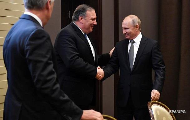 У Росії почалася зустріч Путіна і Помпео