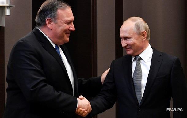 Без проривів і України. Поїздка Помпео до Путіна