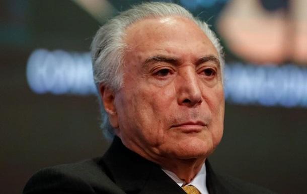 Суд у Бразилії вже вдруге відпустив екс-президента Темера з-під варти