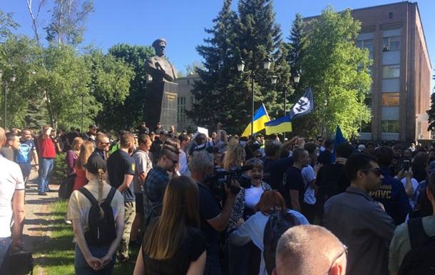 У Харкові на мітингу проти проспекту Жукова виникли сутички