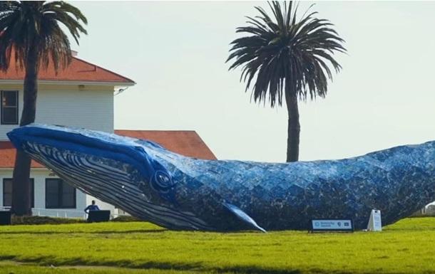 У США створили найбільшого кита з пластику