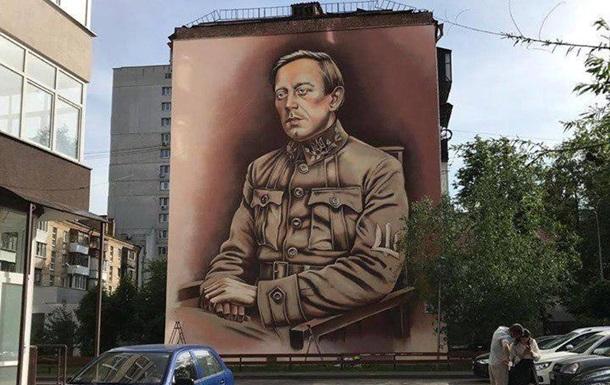В Киеве появился мурал с изображением Петлюры