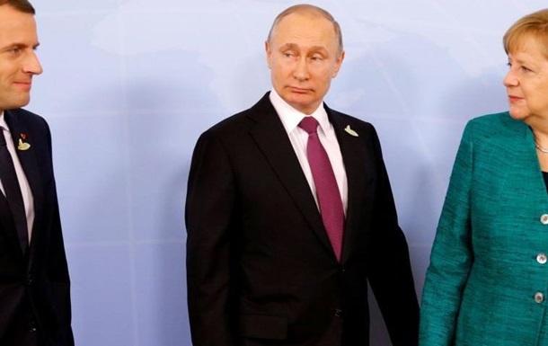 На троих: что задумали Путин, Меркель и Макрон