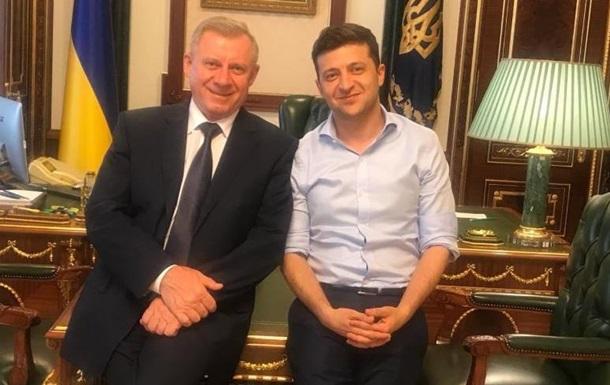 Зеленский впервые встретился с главой Нацбанка
