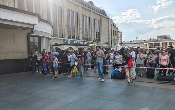 Із залізничного вокзалу Києва евакуювали майже півтори тисячі осіб