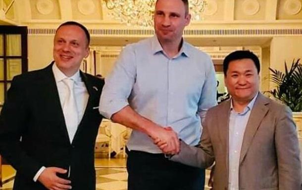 Зустріч з Віталієм Кличком Максима Тимошенка і Чжао Юнчжана