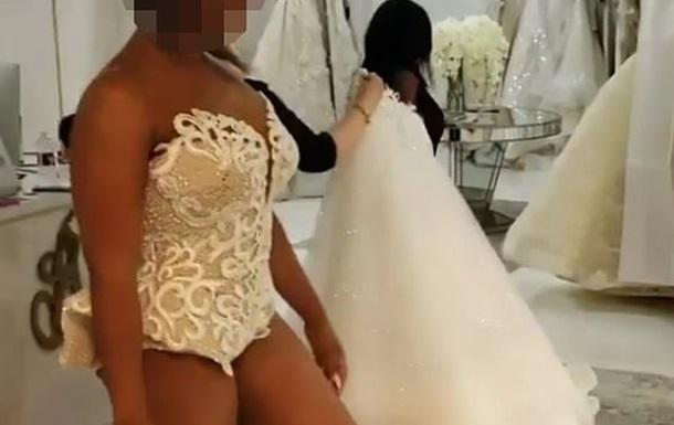 Платье невесты без подола вызвало споры в Сети