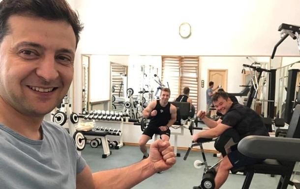 Зеленський показав фото зі спортзалу на Банковій