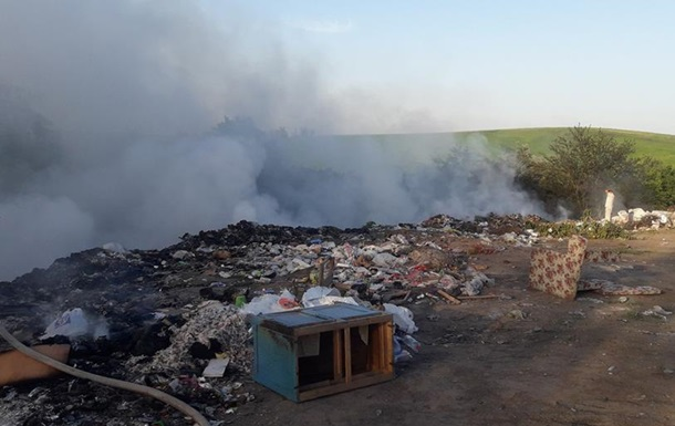 Под Кременчугом случился пожар на свалке