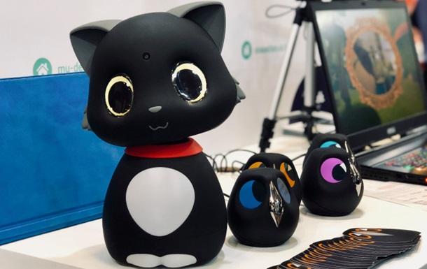 В Китае создали робо-кота, реагирует на прикосновения