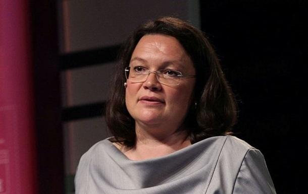 Лидер СДПГ Налес уходит в отставку