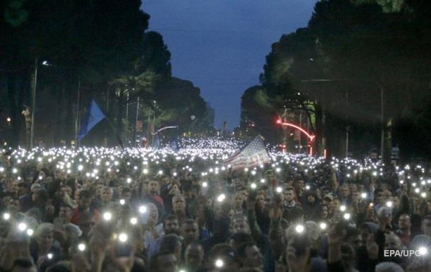 Массовые протесты в Албании: есть пострадавшие