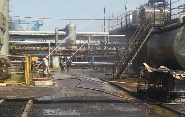 В Харьковской области произошел пожар на заводе по переработке газа