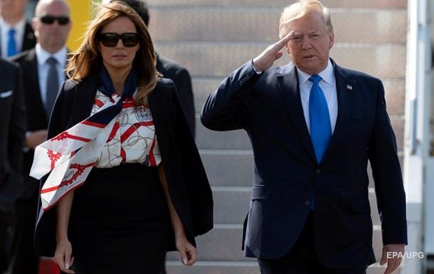 Меланія Трамп у стильній сукні зустрілася з королевою
