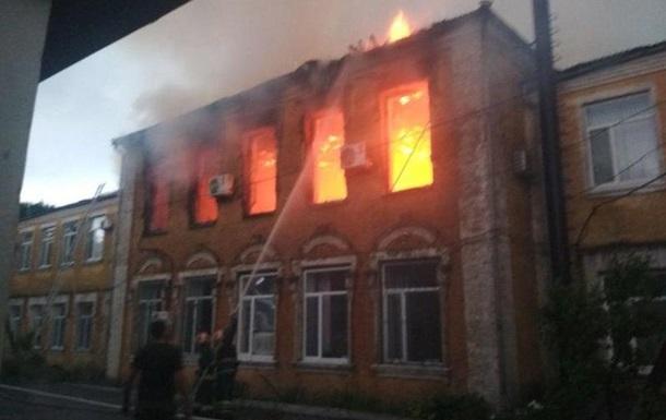 На Кіровоградщині загорілася будівля РДА