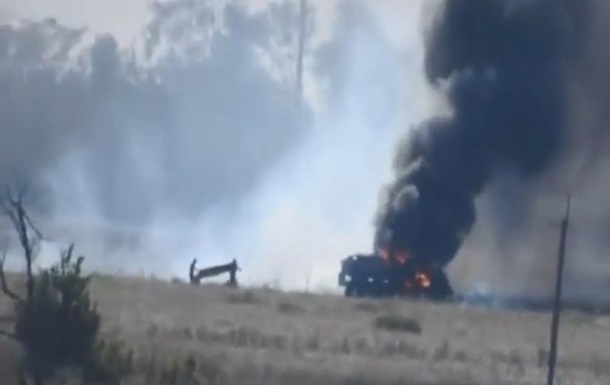 Видео ракетной атаки на грузовик ВСУ