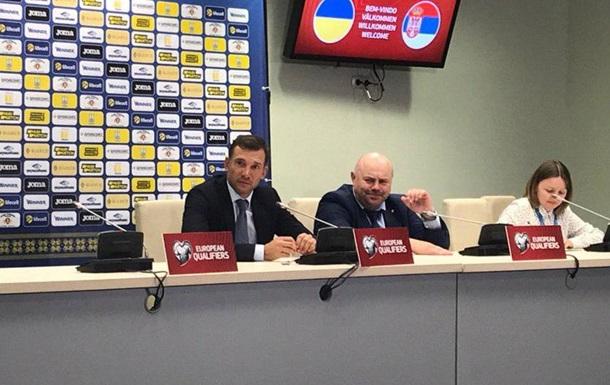 Шевченко зізнався, що сказав гравцям у роздягальні після розгрому сербів
