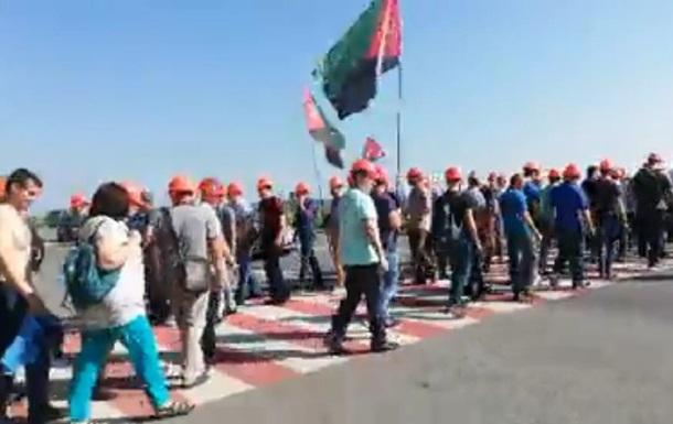 На Львівщині шахтарі перекрили трасу
