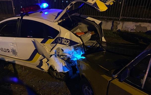 Под Одессой полицейский пострадал в ДТП