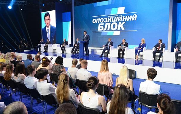 Оппозиционный блок  представил первую десятку списка на выборы