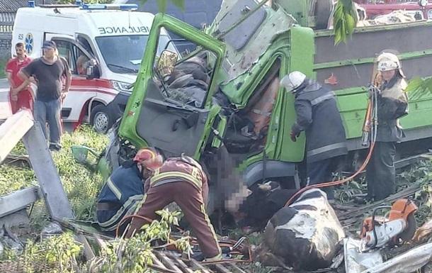 У ДТП під Києвом розбилася вантажівка з коровами