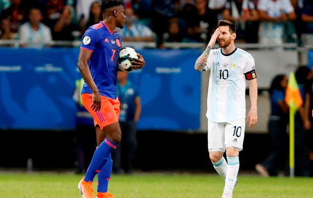 Аргентина проиграла Колумбии свой стартовый матч на Копа Америки