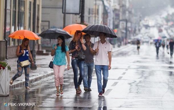 В Україні очікуються грози і дощі