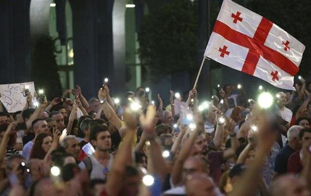 Грузія: футболісти підтримали протест