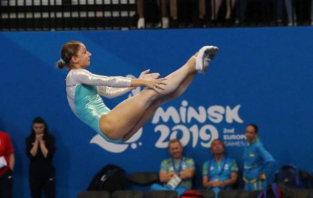 Україна виграла срібло Європейських ігор у синхронних стрибках на батуті