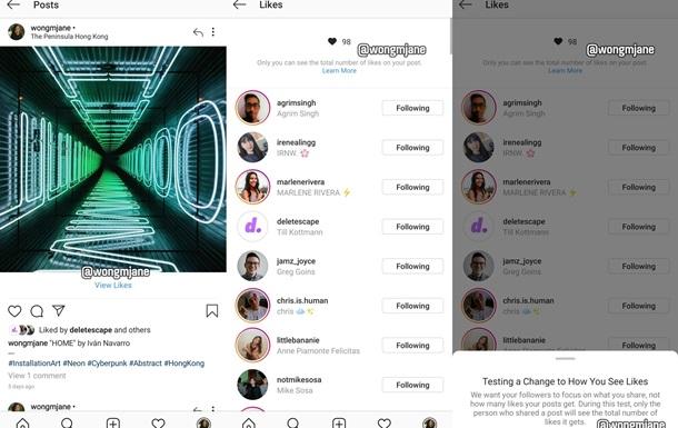 В Instagram исчезнет счетчик лайков