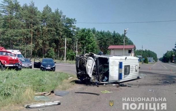 На Волыни столкнулись  скорая  и грузовик, погиб пациент