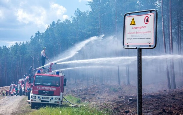 Масштабна лісова пожежа бушує на півночі Німеччини