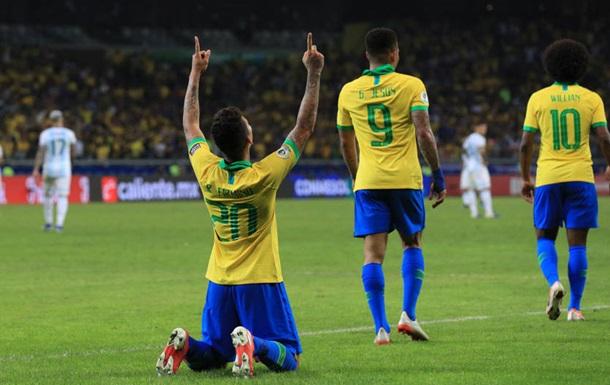 Бразилія обіграла Аргентину і стала першим фіналістом Копа Америка