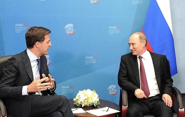 Голландський прем єр і Путін обговорили справу MH17