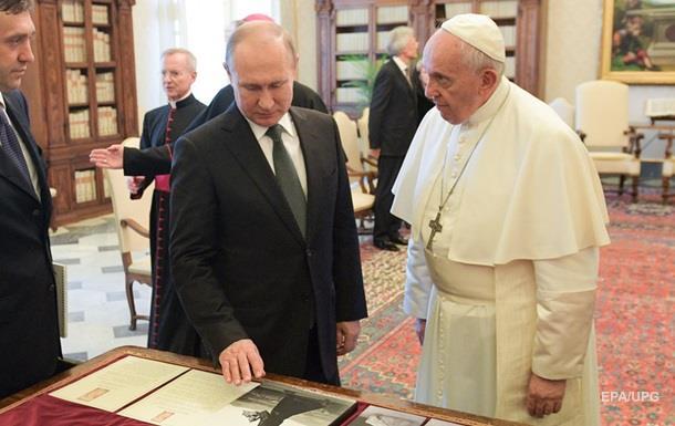 Путін і Папа Римський обговорили Україну